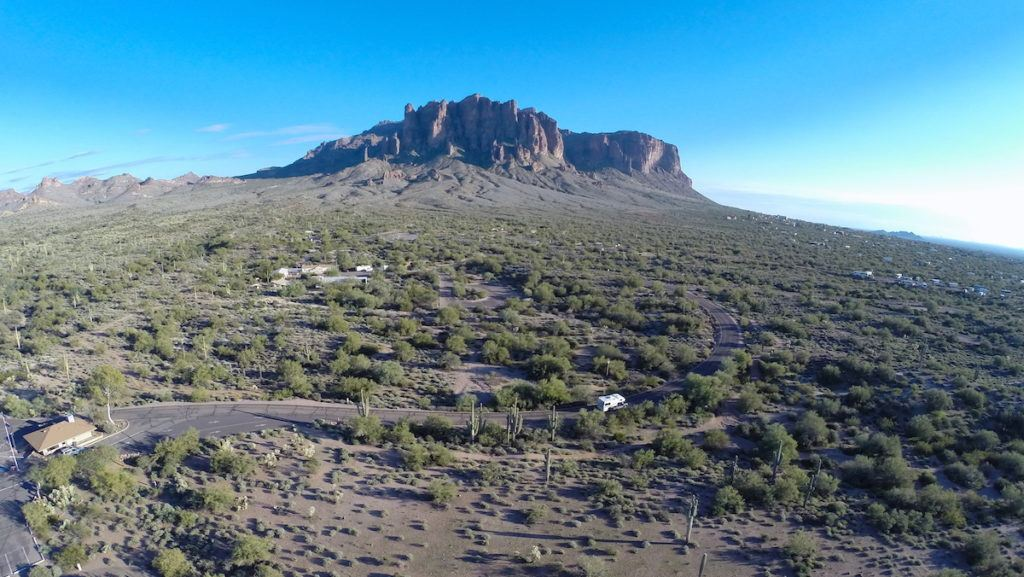 Superstition Mountains in Apache Junction by MikesRoadTrip.com