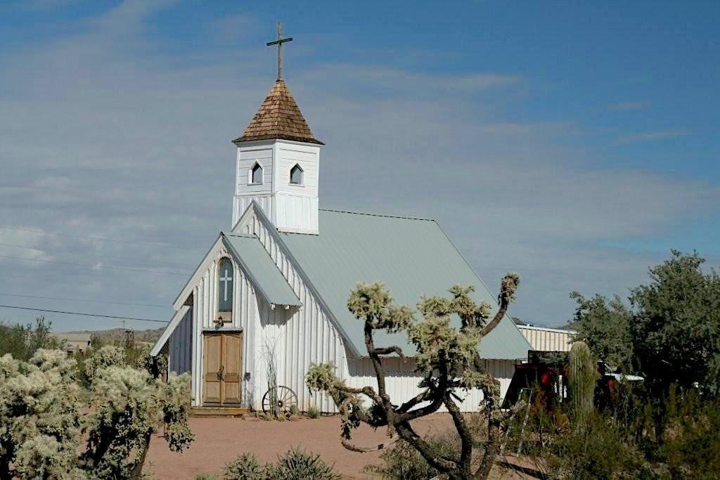 Apacheland Church, also known as the Elvis Chapel by MikesRoadTrip.com