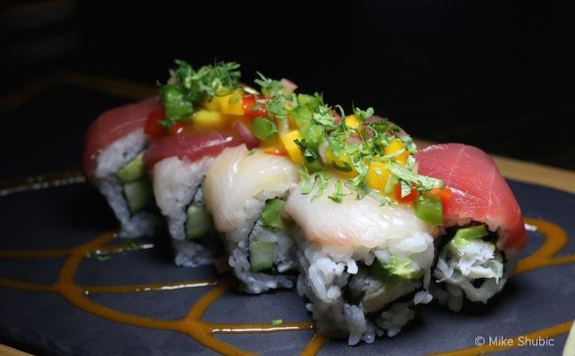 Rainbow Roll Sushi by MikesRoadTrip.com