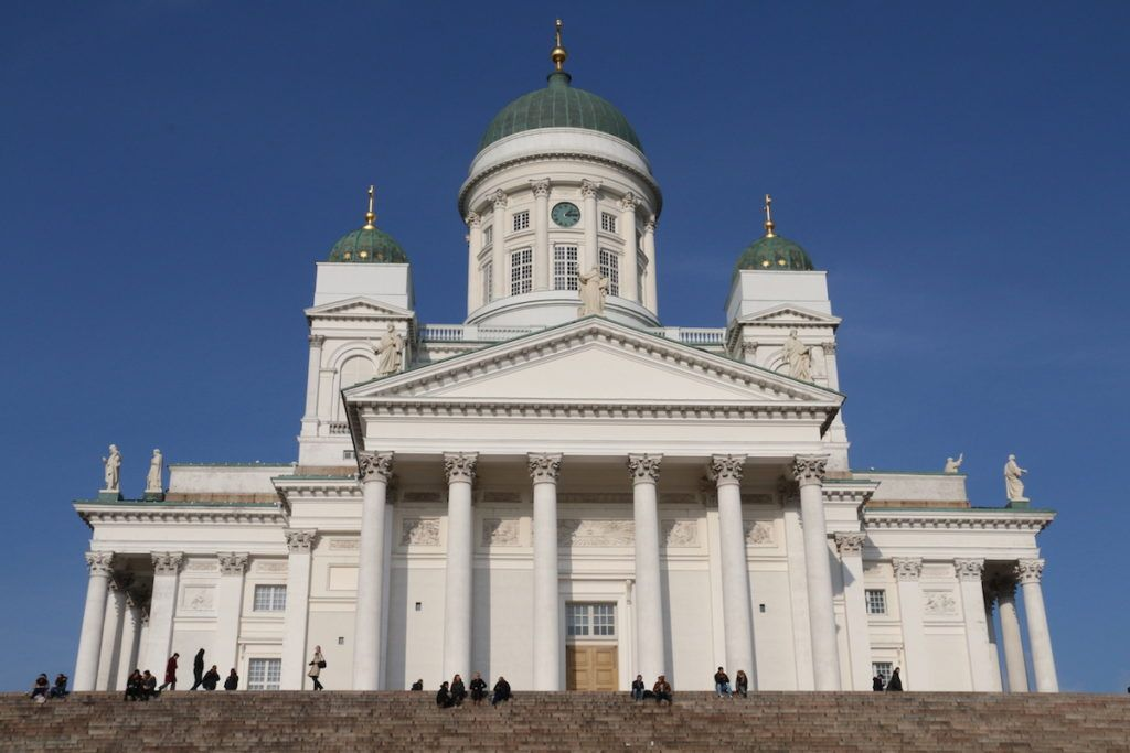 Helsinki-Cathedral in Finland by MikesRoadTrip.com