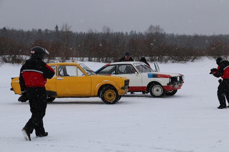 Rally racing on ice in Rovaniemi by MikesRoadTrip.com