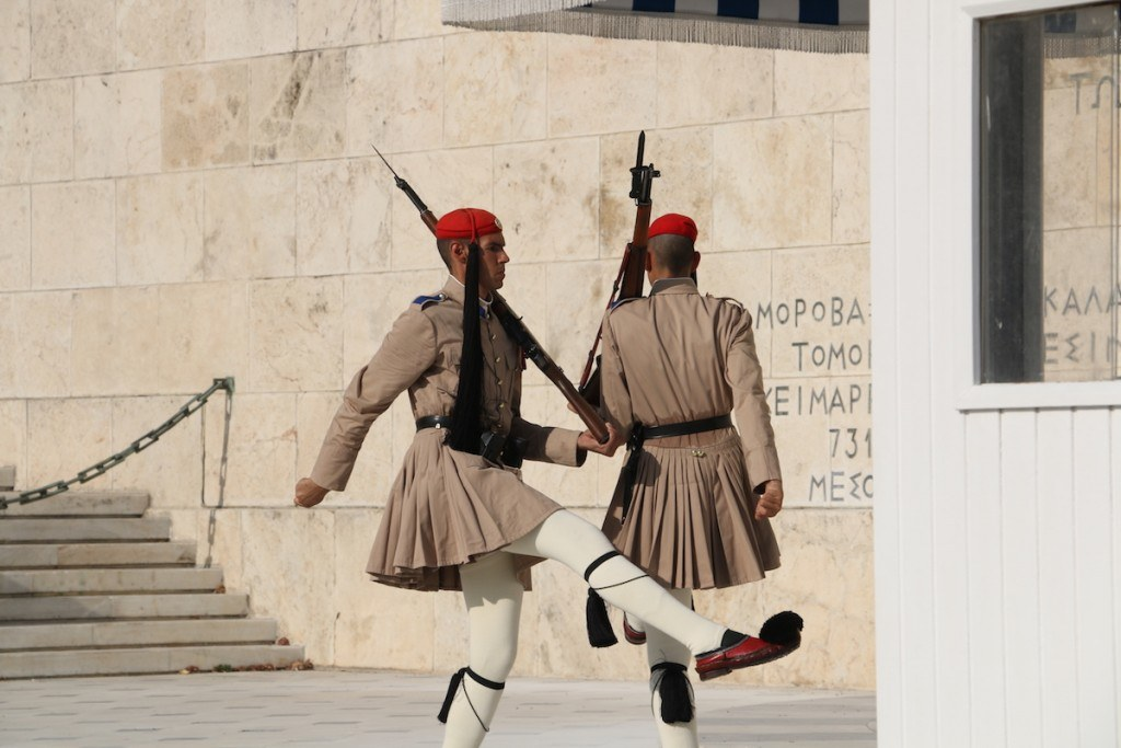 Greek Changing of the Guards in Athens by MikesRoadTrip.com