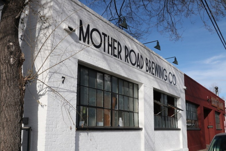 Mother Road Brewing outside by MikesRoadTrip.com