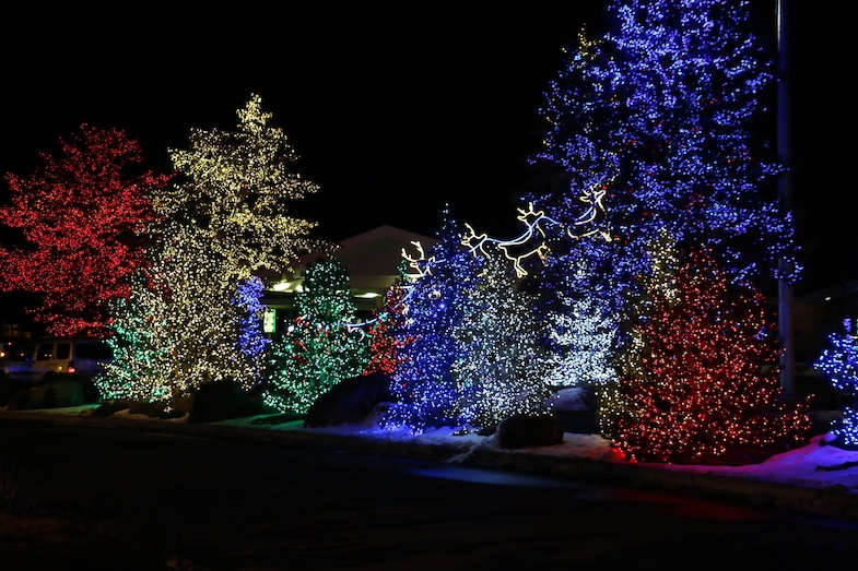 Holiday Light Display at Little America in Flagstaff by MikesRoadTrip.com