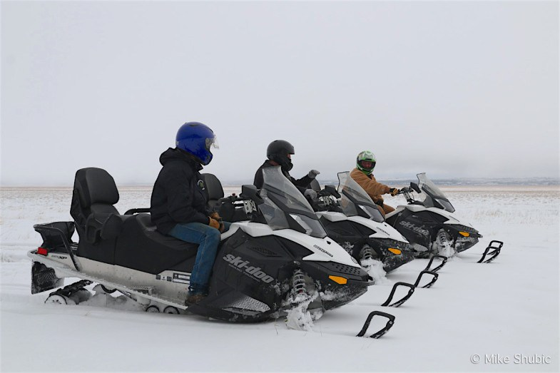 Snowmobiling at Mormon Lake Lodge is one of the top-10 winter activities in Flagstaff, AZ. Photo by: MikesRoadTrip.com