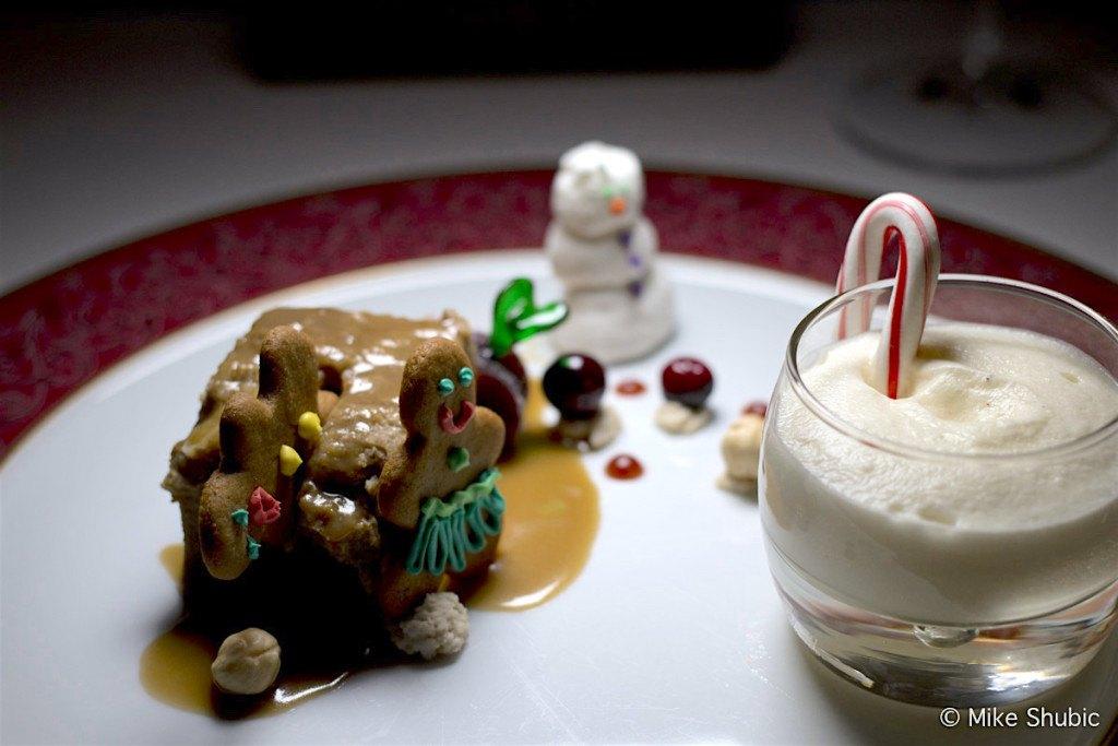 Gingerbread pudding dessert at Binkley