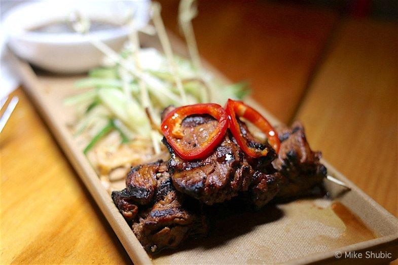 grilled tenderloin satay at The Market Restaurant by MikesRoadTrip.com