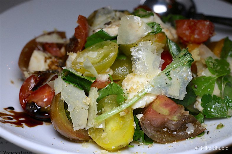 heirloom tomato salad at The Market Restaurant and Bar by MikesRoadTrip.com