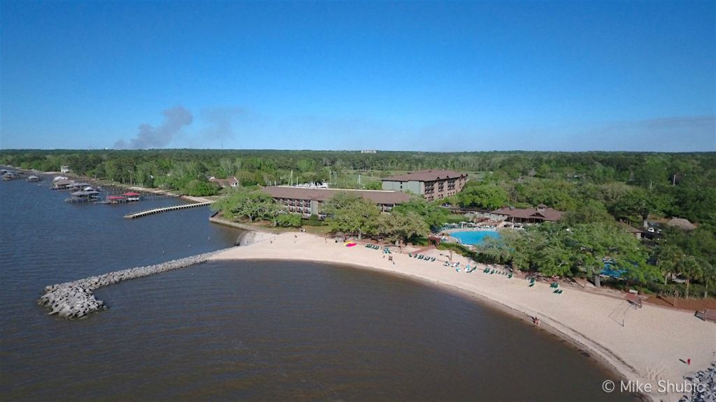 Marriott Grand Hotel in Point Clear Aerial by MikesRoadTrip.com