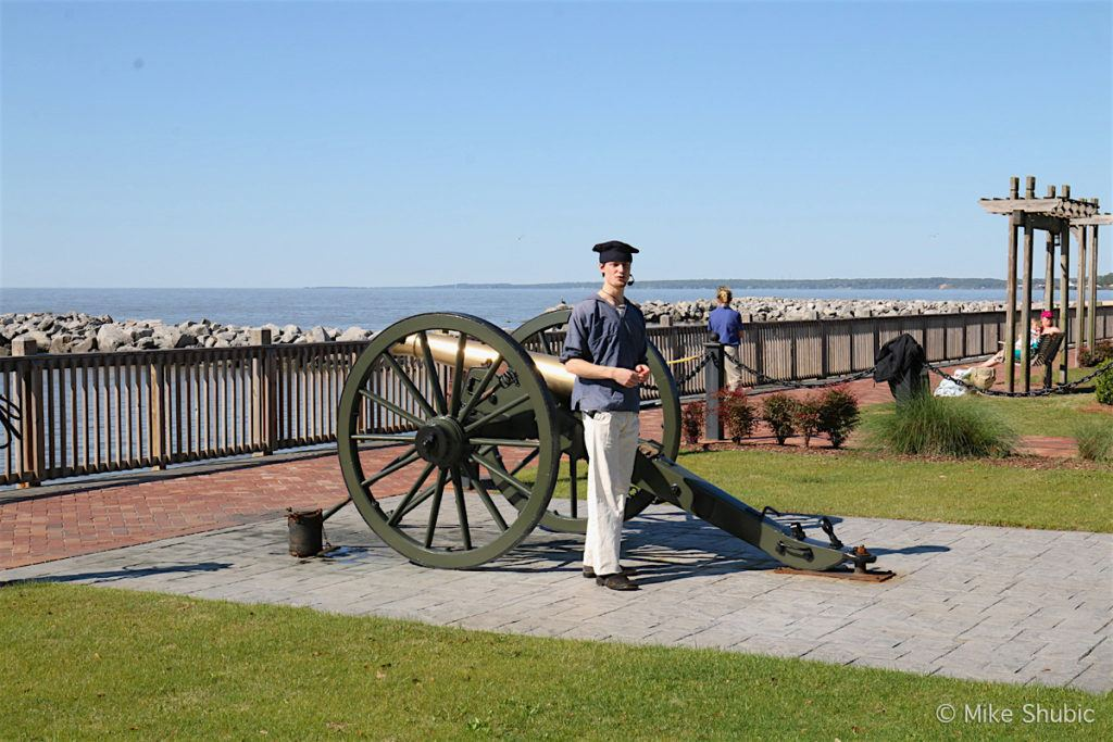 Cannon Firing at Grand Hotel in Point Clear, AL by MikesRoadTrip.com