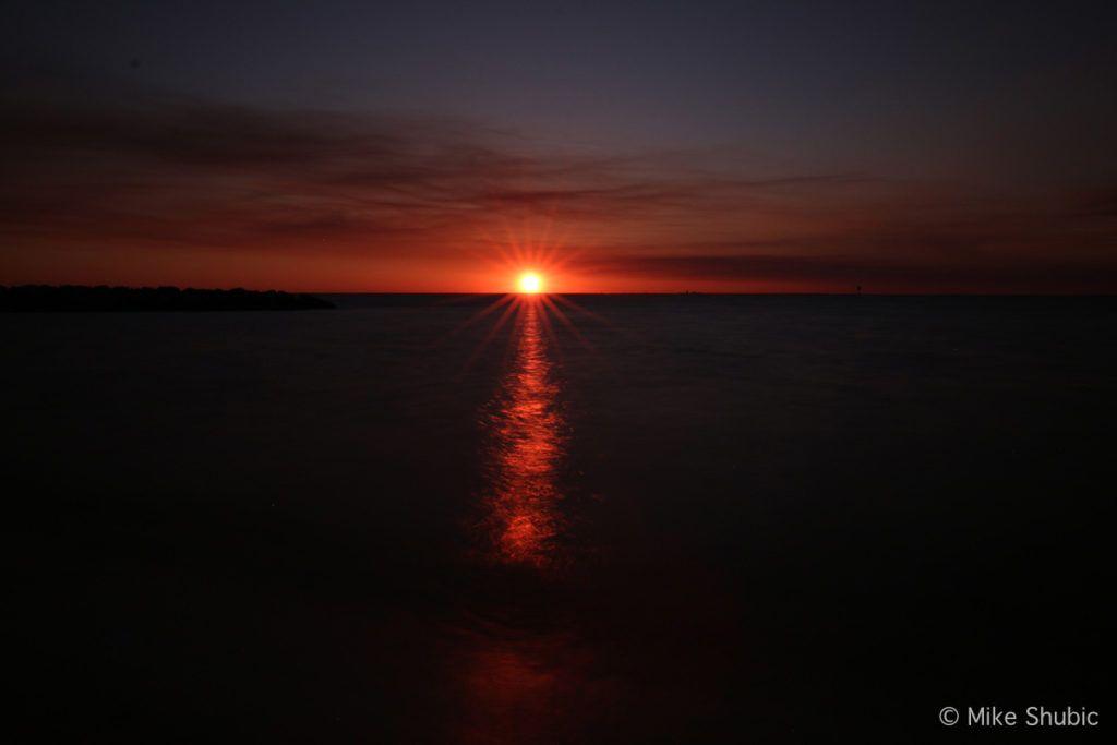 Fairhope Gulf Coast Alabama sunset by MikesRoadTrip.com