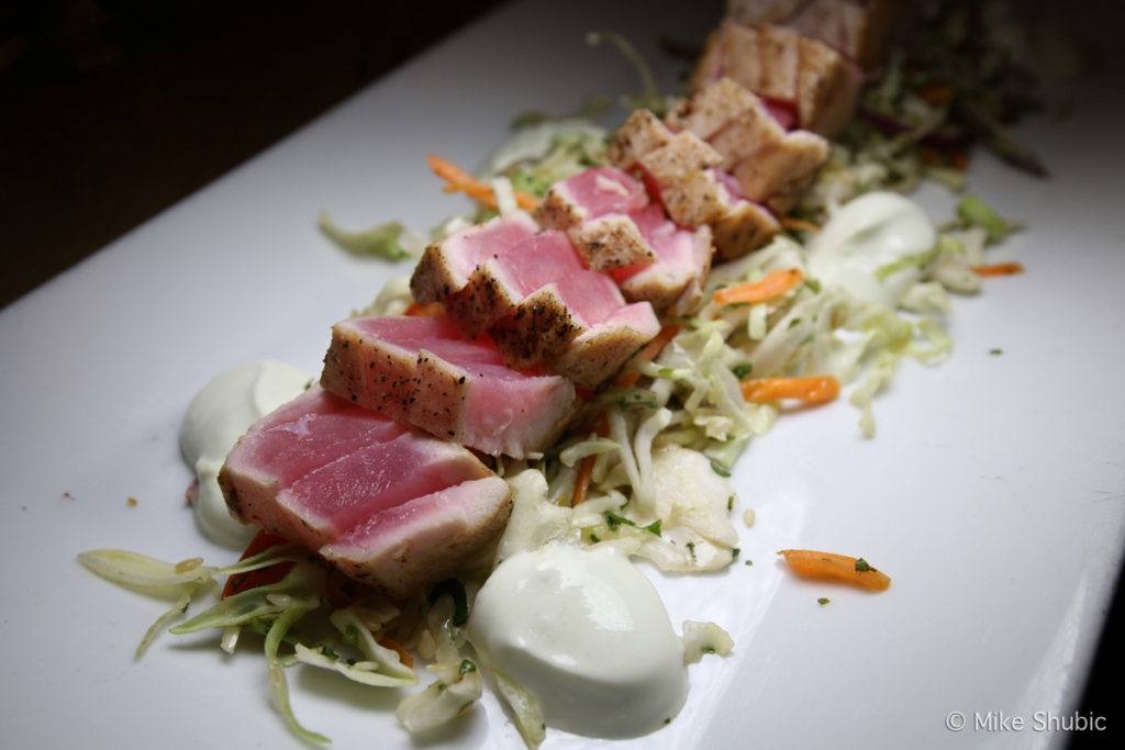 Tuna dish at Saltwater Grill at Grand Hotel in Point Clear by MikesRoadTrip.com
