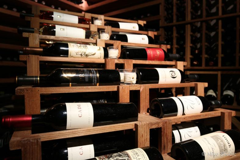 Extensive wine selection.
