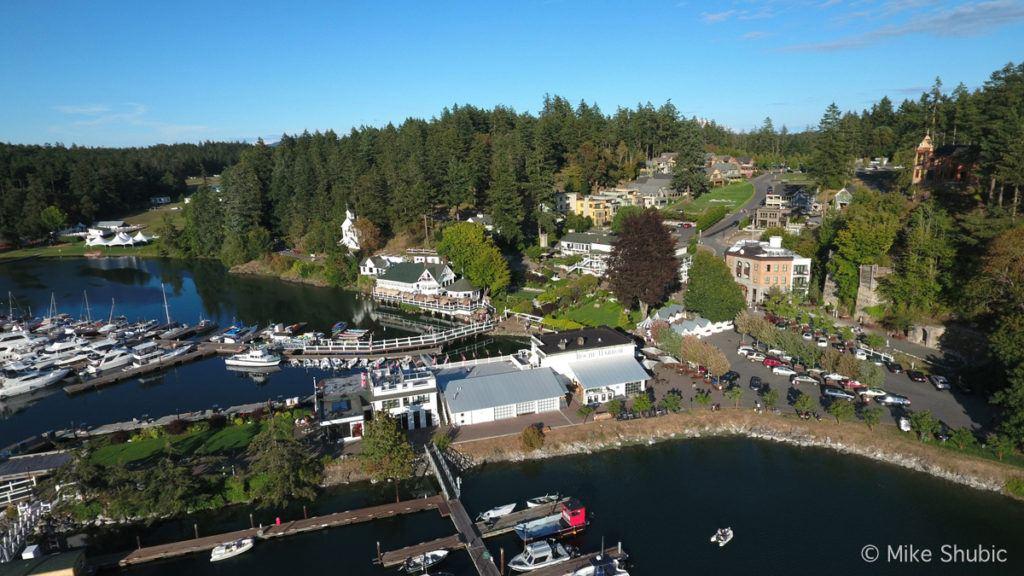 Roche Harbor aerial by MikesRoadTrip.com
