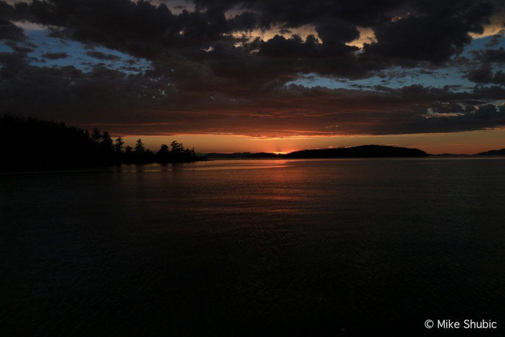 Orcas Island sunset cruise by MikesRoadTrip.com