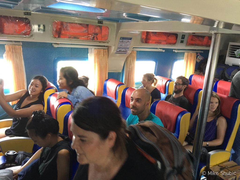 Travel bloggers on the way to Raja Ampat