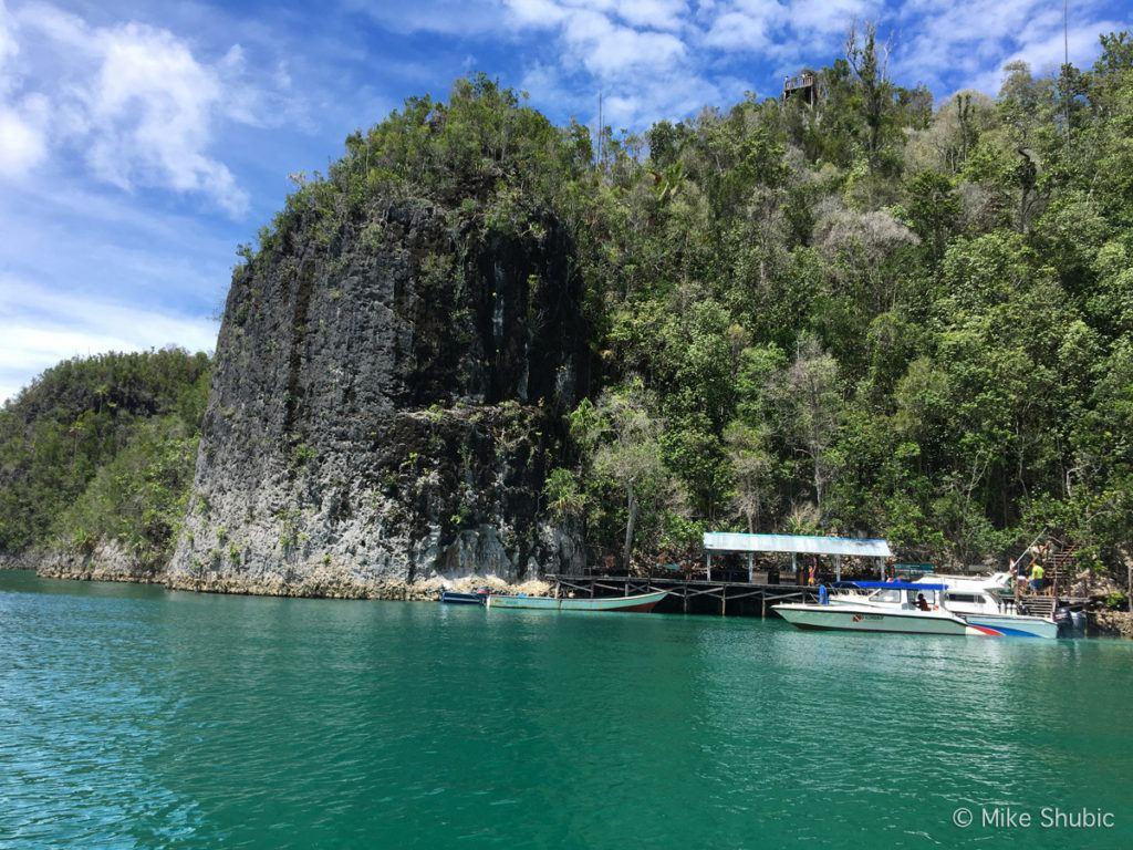 Wayang Island dock for Raja Ampat views