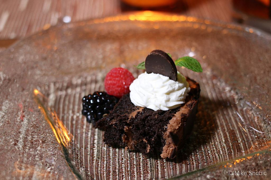 chocolate layer cake with fresh berries and Chantilly creme at Prado by MikesRoadTrip.com