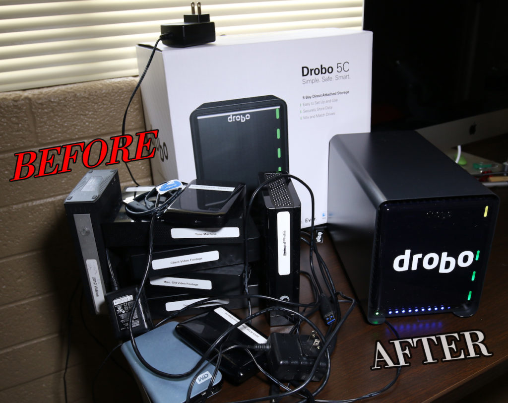 Before Drobo and after Drobo | photo by: Mike Shubic