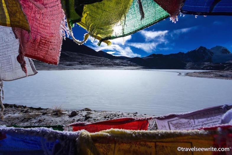 Gurudongmar Lake in winters, North Sikkim