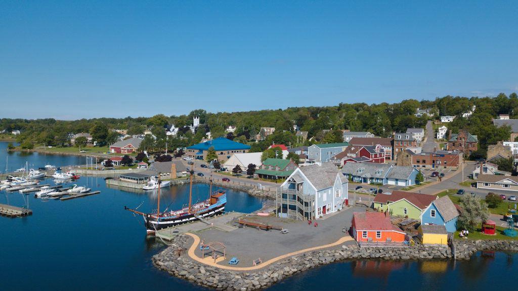 Pictou Nova Scotia aerial image by Mike Shubic of MikesRoadTrip.com