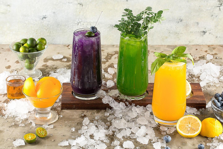 fresh fruit juices at Best breakfast buffet in the world Sofitel Manila