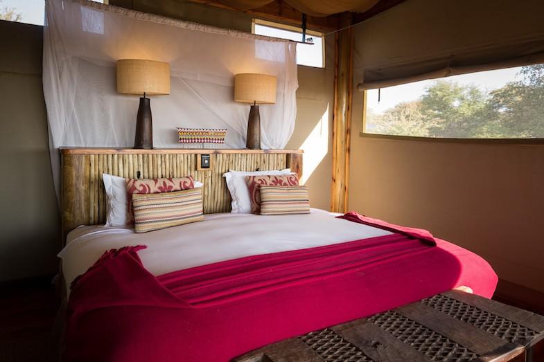 Wilderness Safaris camping tent in central Kalahari Botswana