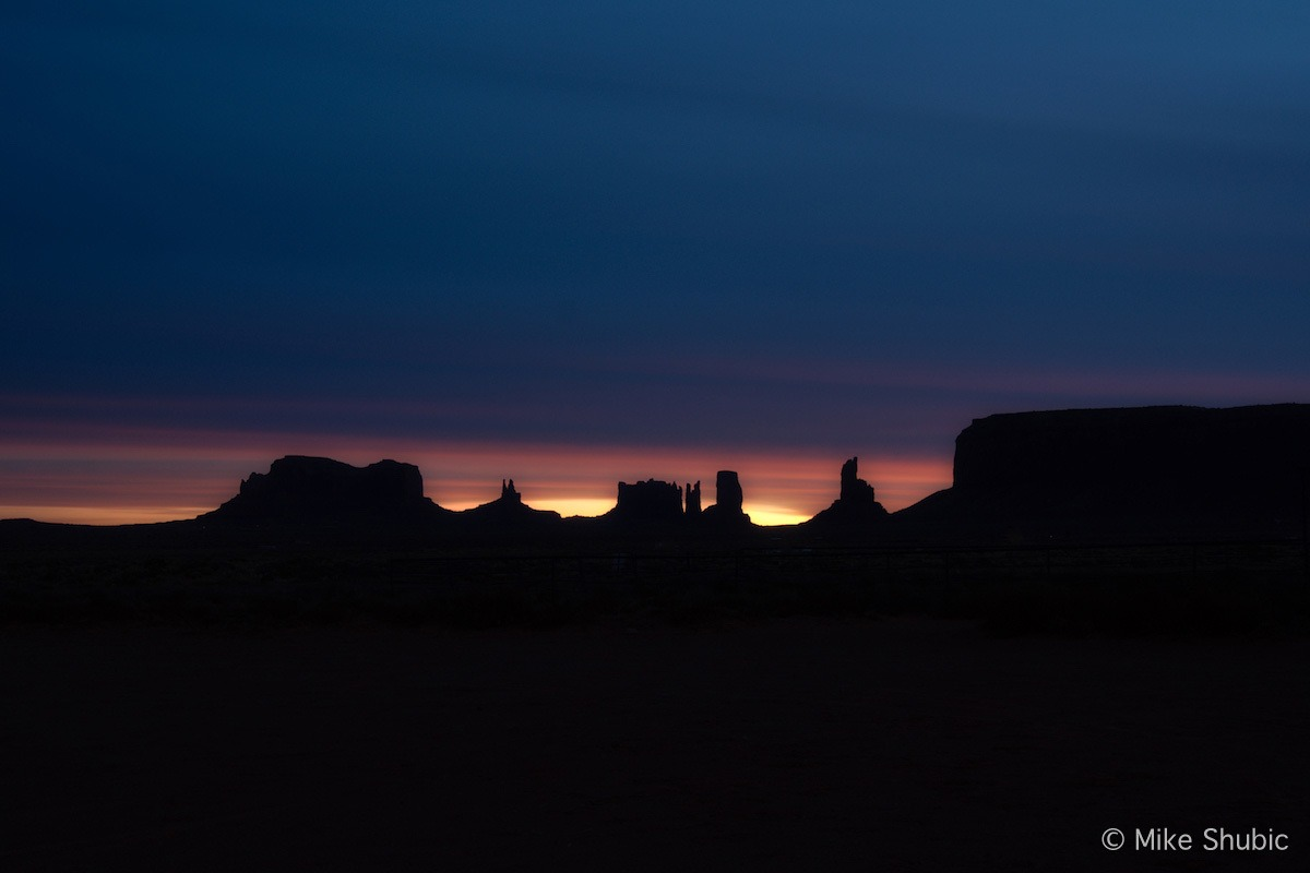 Visiting Monument Valley and watching a dreamy sunrise. Photo by: Mike Shubic of MikesRoadTrip.com
