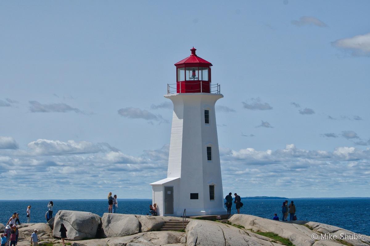 Peggy's cove lighthouse on a Nova Scotia Road Trip. Photo by MikesRoadTrip.com