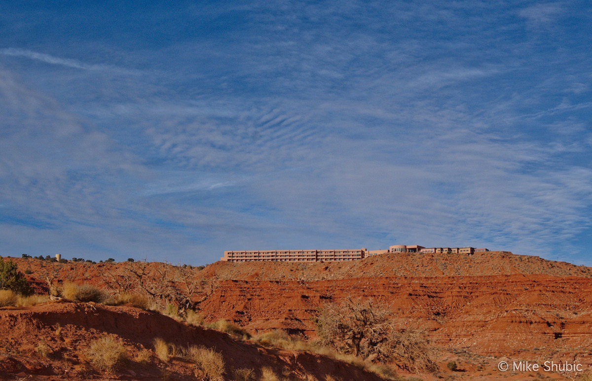 View of Hotel in Monument Valley Arizona