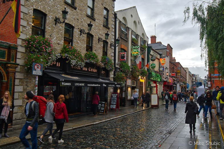 Dublin Ireland downtown by MikesRoadTrip.com
