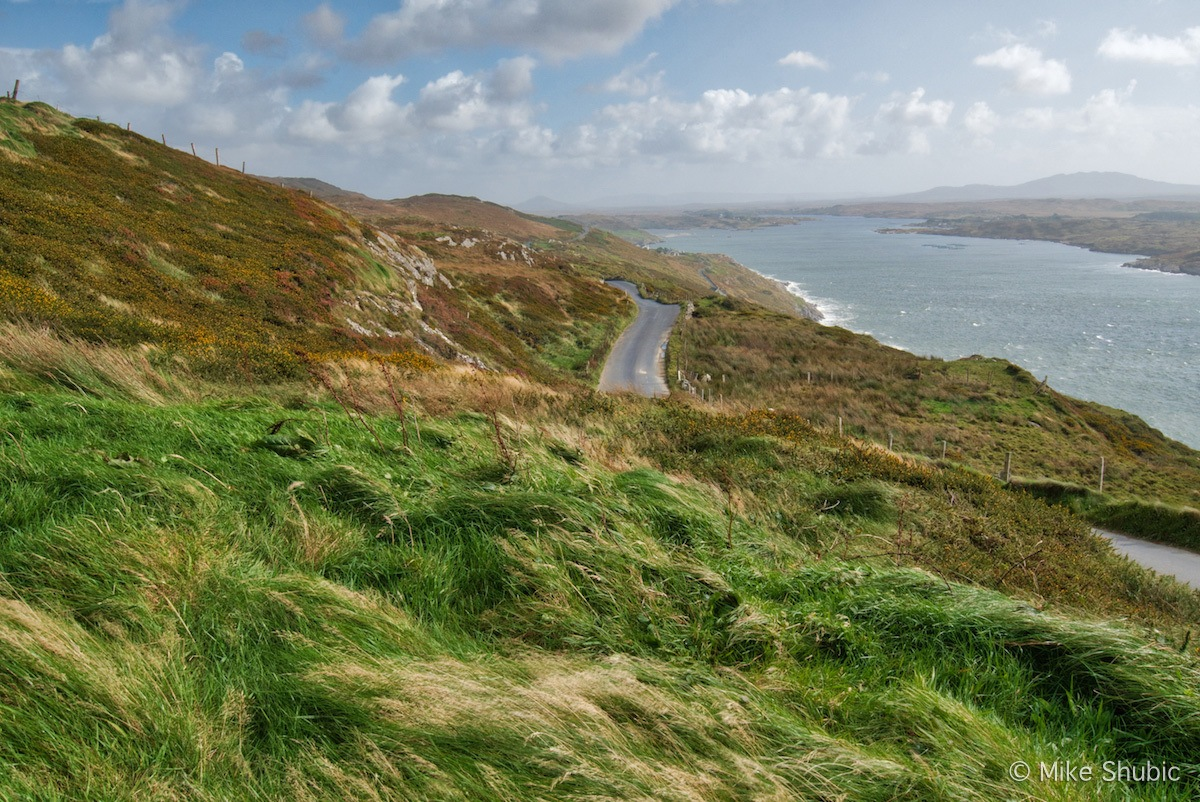 Wild Atlantic way road and sea by MikesRoadTrip.com