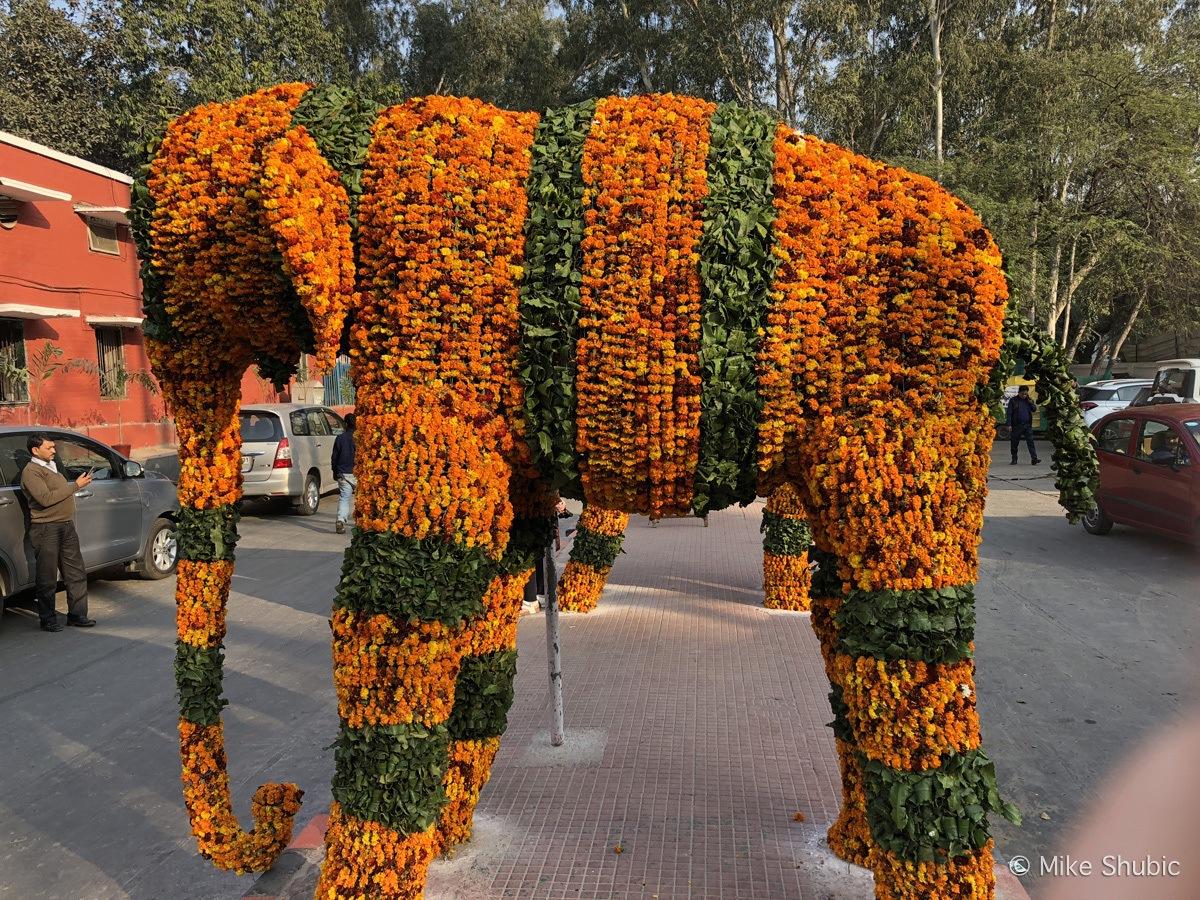 Elephant made of flowers - photo by MikesRoadTrip.com
