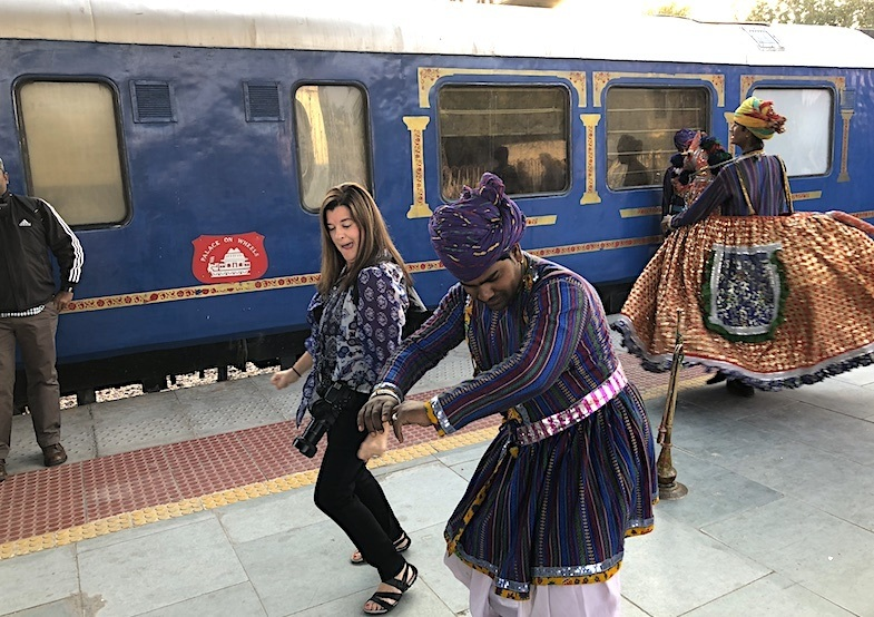 Palace on Wheels train station entertainment
