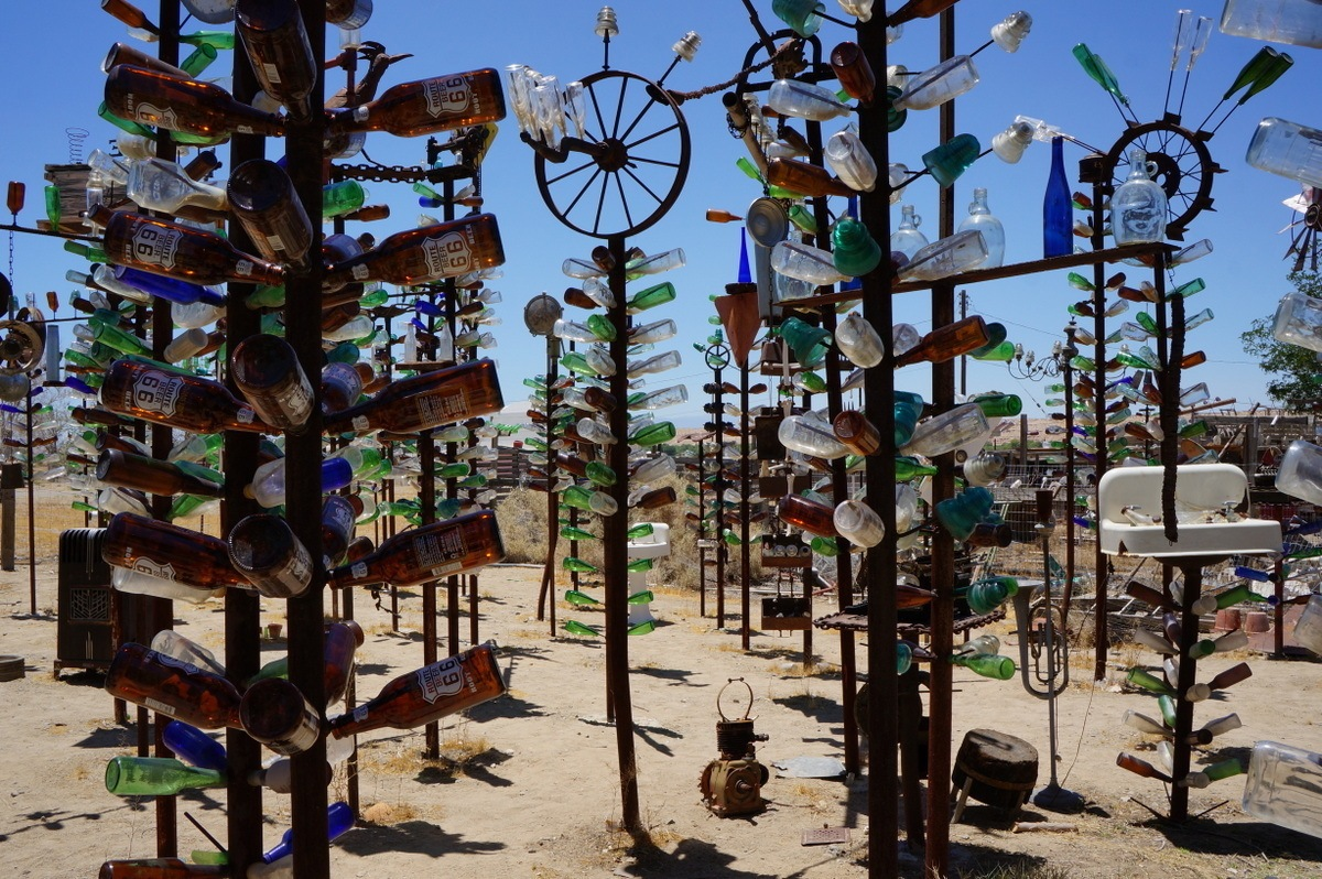 Bottle Tree Ranch is one of many interesting roadside attractions in California