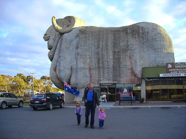 Big Merino Sheep in Goulburn, Australia is a roadside attraction to behold
