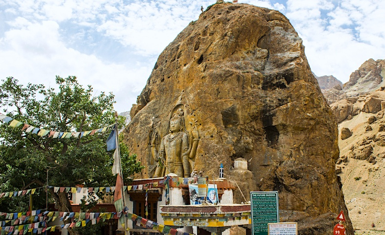 Buddha Statue Mulbekh is a wonderful roadside attraction in India