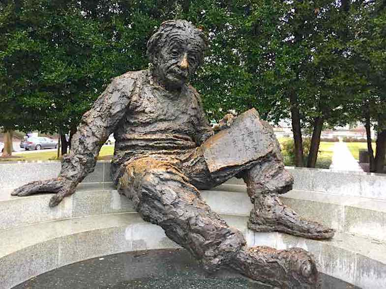 Einstein Memorial in Washington D.C. is one of the many roadside attractions in the area