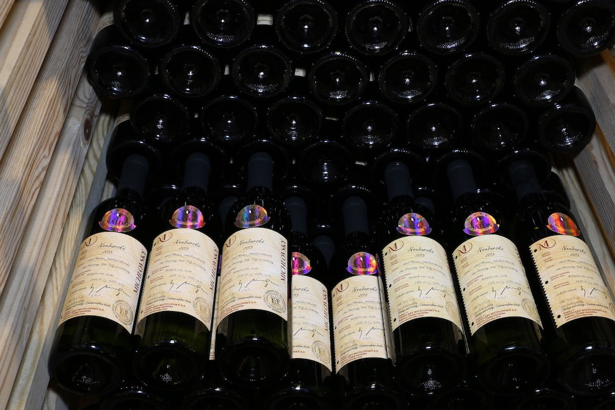Wines on display at Czech Republic Wine Salon