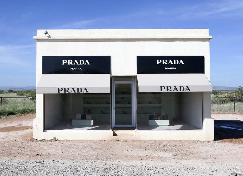 Roadside attractions in Texas includ Prada Marfa