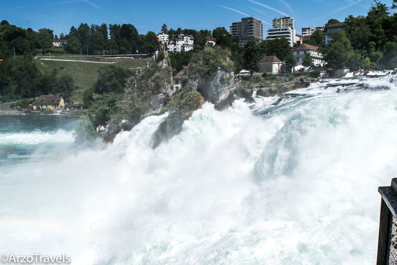 Rhine Falls in Switzerland is one of many great roadside attractions in the country
