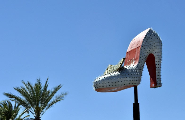 The Silver Slipper is one of the many roadside attractions in Nevada