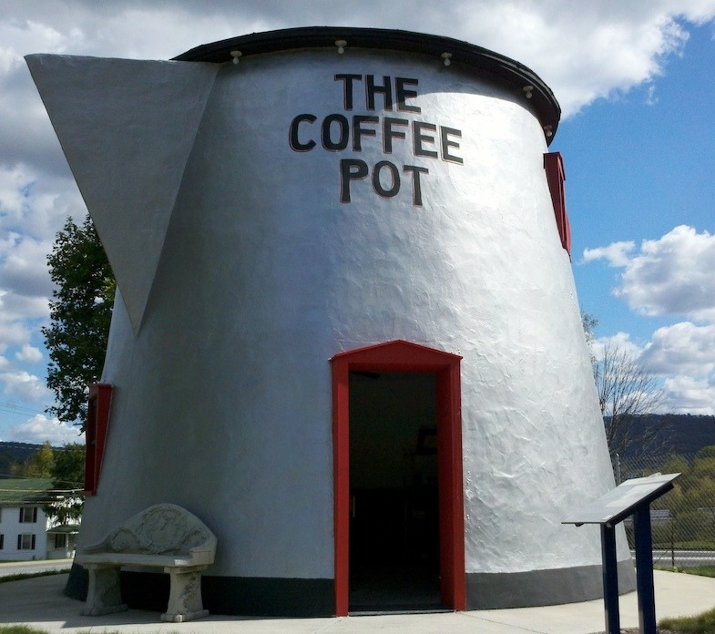 The giant coffee pot roadside attraction in