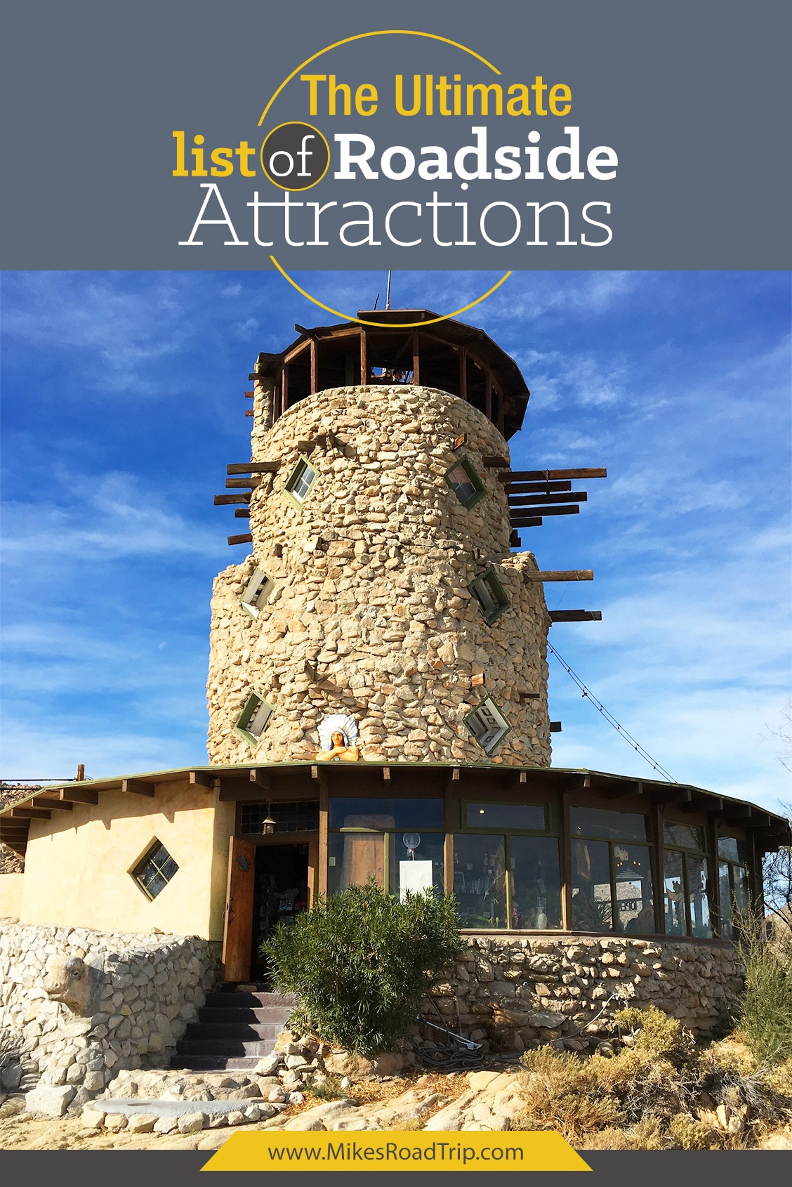 Ultimate list of roadside attractions from around the world by MikesRoadTrip.com