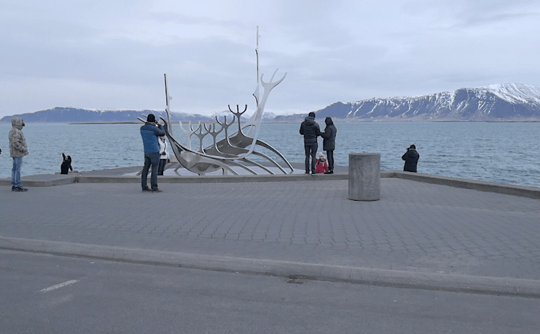 Sun Voyager is one of many roadside attractions in Iceland