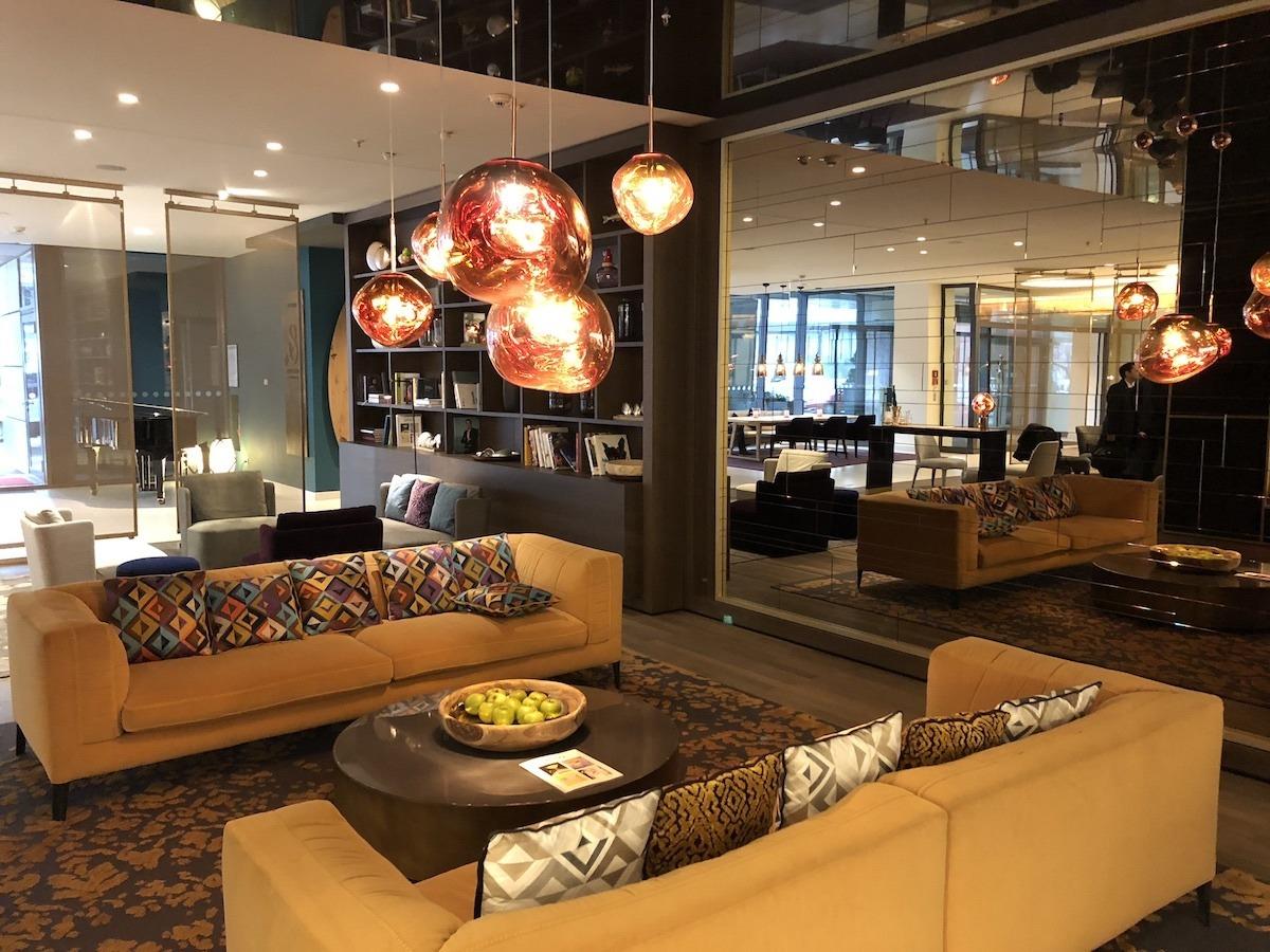 Vienna House Andel's Berlin lobby by MikesRoadTrip.com
