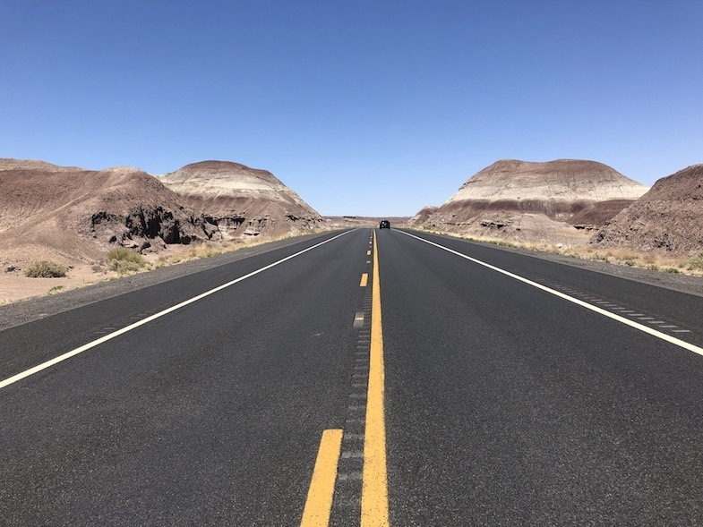 Road through the painted desert by MikesRoadTrip.com
