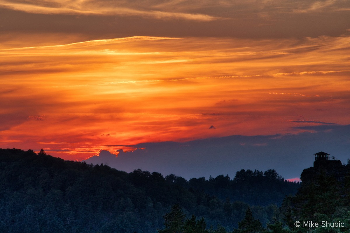 Bohemian Switzerland sunrise by MikesRoadTrip.com