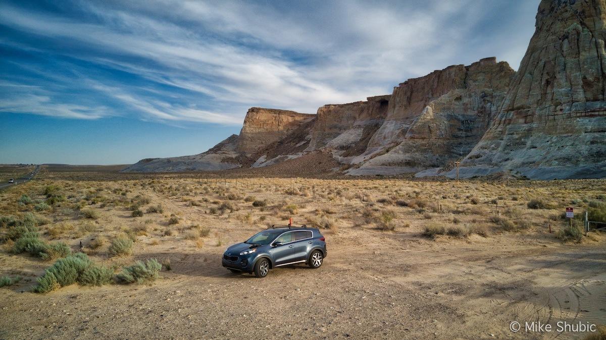 Kia Sportage in Utah by MikesRoadTrip.com