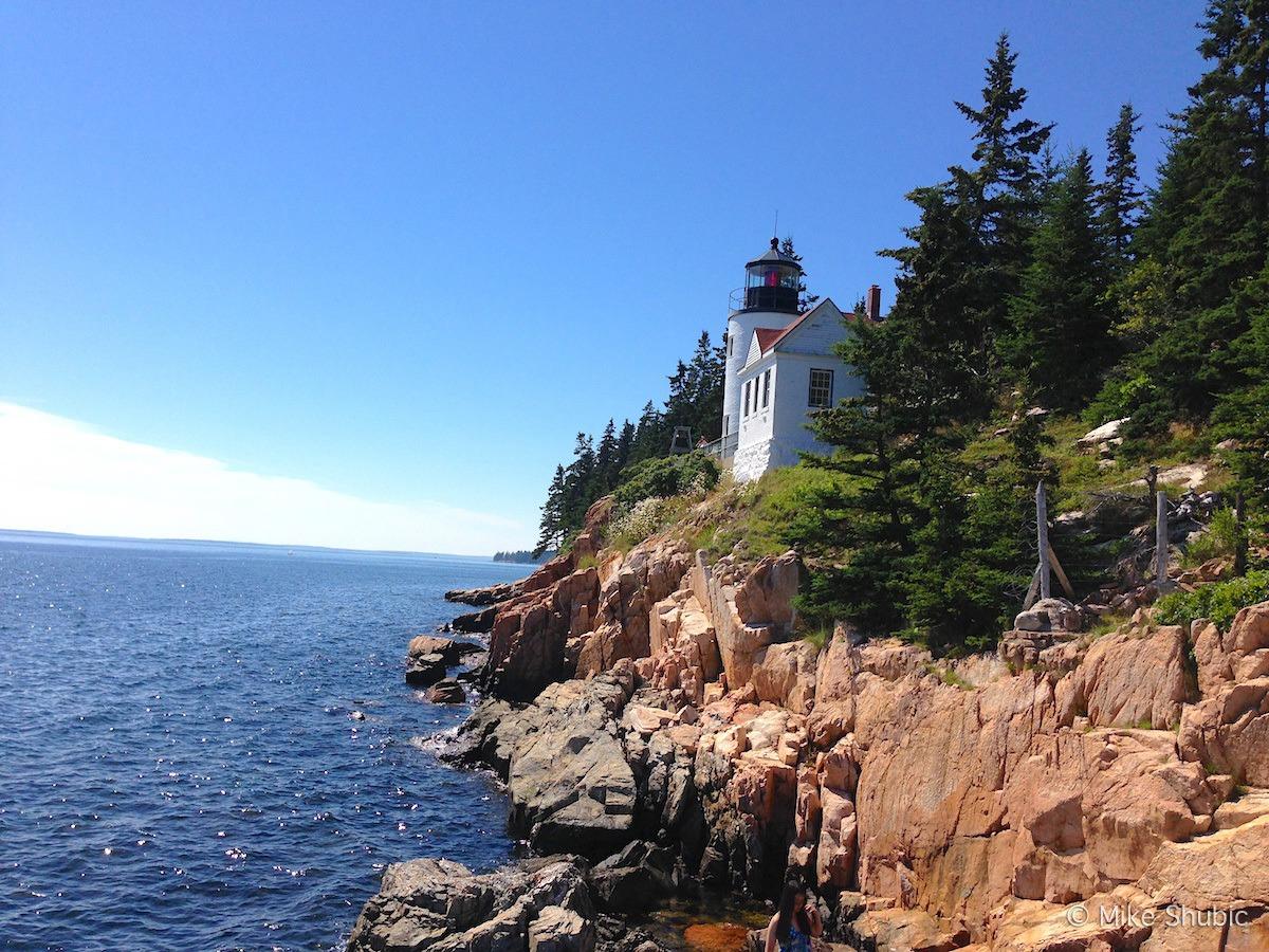 Maine lighthouse Acadia National Park